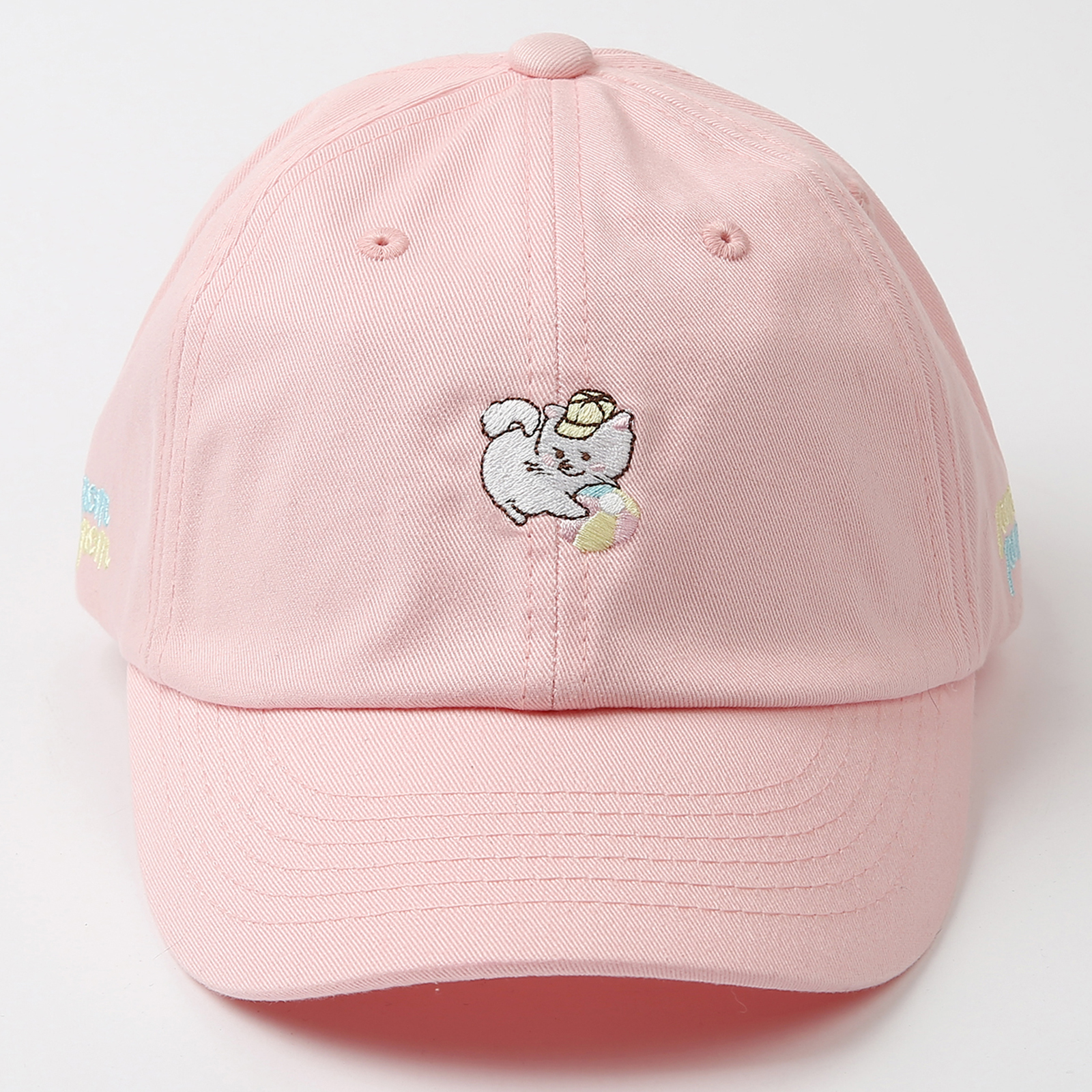 WITHMOONS Baseball Cap Cute Playing Cat Embroidery Pastel Cotton Hat AL11192