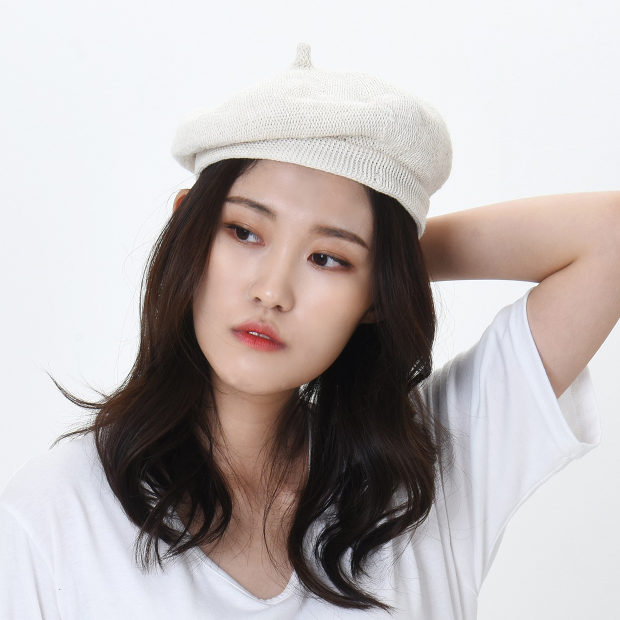 WITHMOONS Beret Hat Breathable Mesh Summer Straw French Berets KRF1165